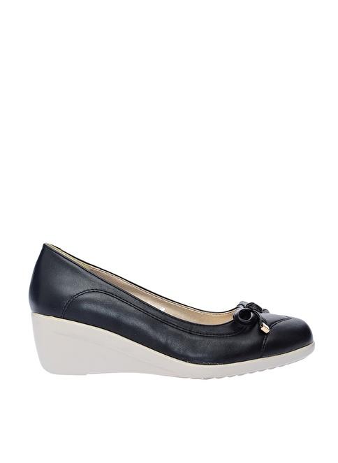 Limon Company Dolgu Topuklu Klasik Ayakkabı Siyah
